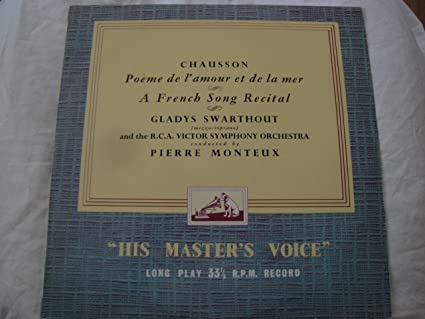 Gladys Swarthout Chausson Pierre Monteux Rca Victor