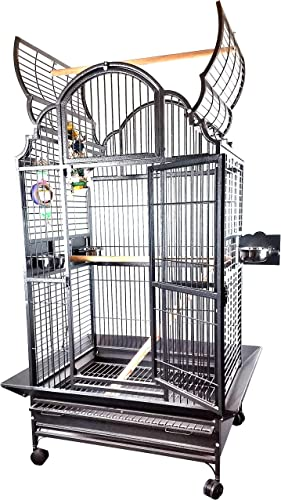 Medium Victorian Style Bird Cage Platinum