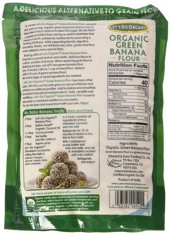 Let's Do   Organic Green Banana Flour, 14 Ounce Pouch