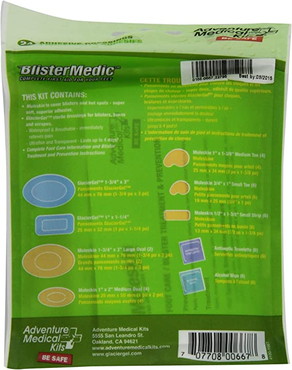 Adventure Medical BlisterMedic 0155-0667 Complete first aid for your feet Conta