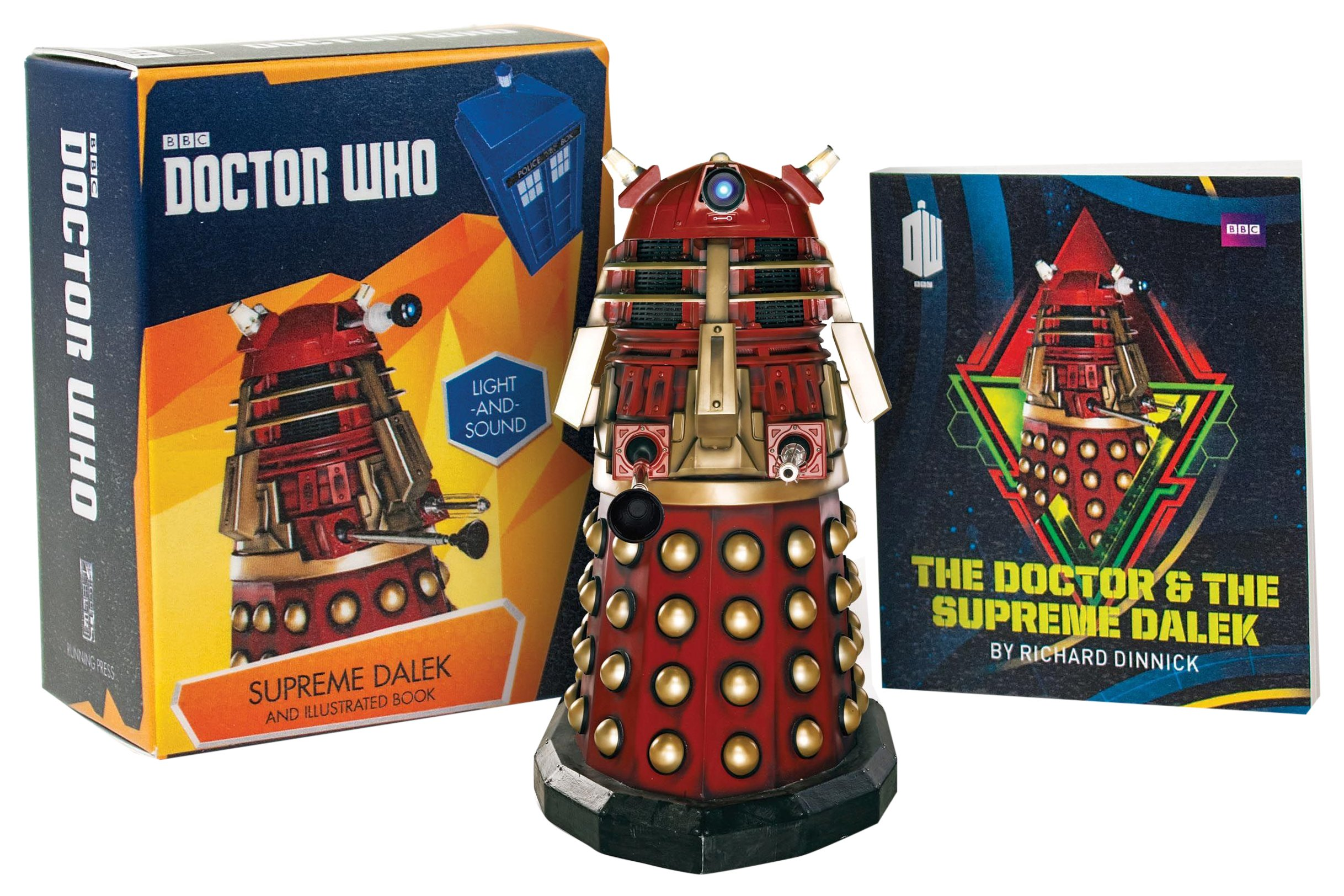 doctor who supreme dalek and illustrated book with