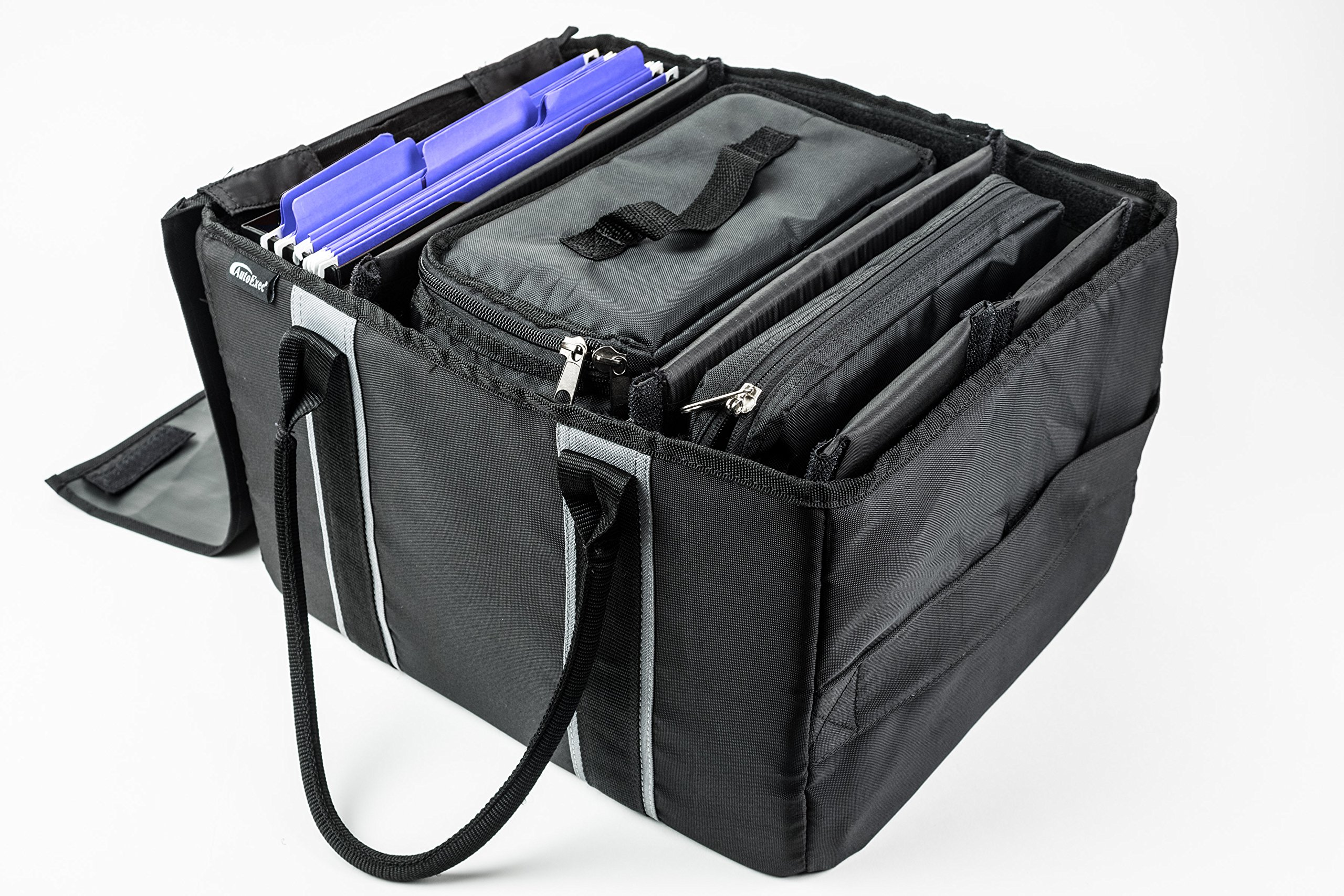 AutoExec AETote-09 Black/Grey File Tote with One Cooler and One Tablet Case by AutoExec (Image #17)