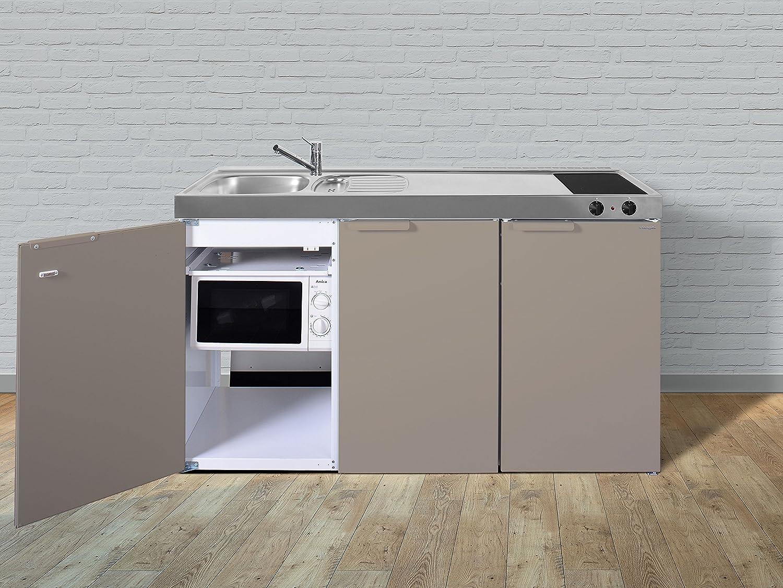 Stengel Minikuche Pantrykuche Single Kuche 150cm Beige Metall Becken
