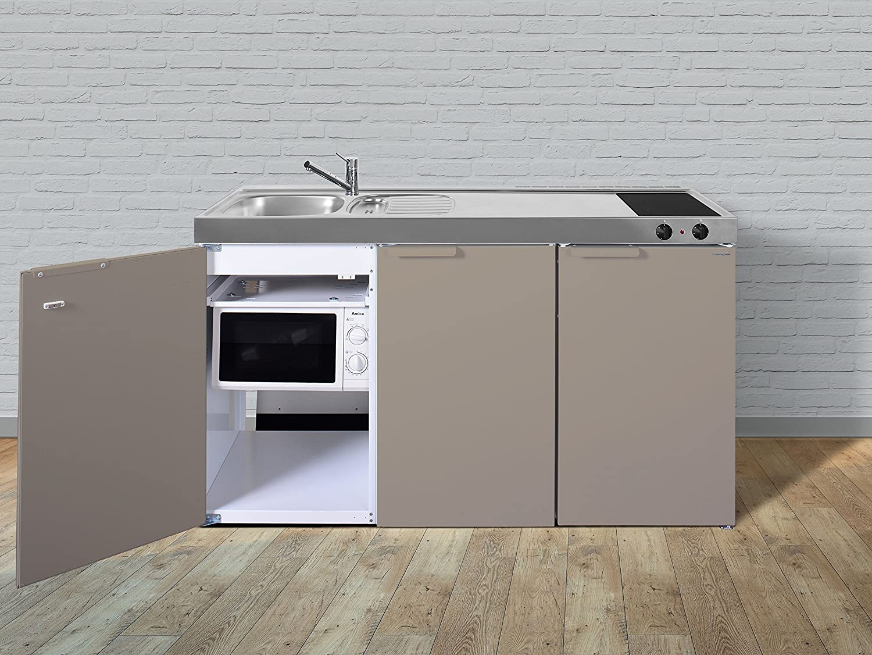 Miniküche Kühlschrank Links : Stengel miniküche pantryküche single küche cm beige metall