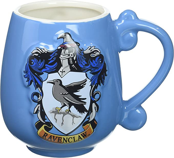 Amazon Com Harry Potter Ravenclaw Crest Ceramic Mug Decorative Tableware Blue Standard Toys Games