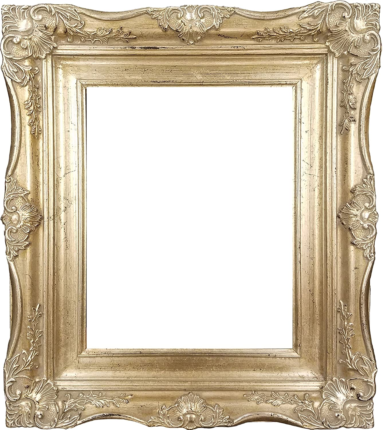 Amazon 4 vintage ornate baroque french silver picture frame amazon 4 vintage ornate baroque french silver picture frame 11x14 inch jeuxipadfo Image collections