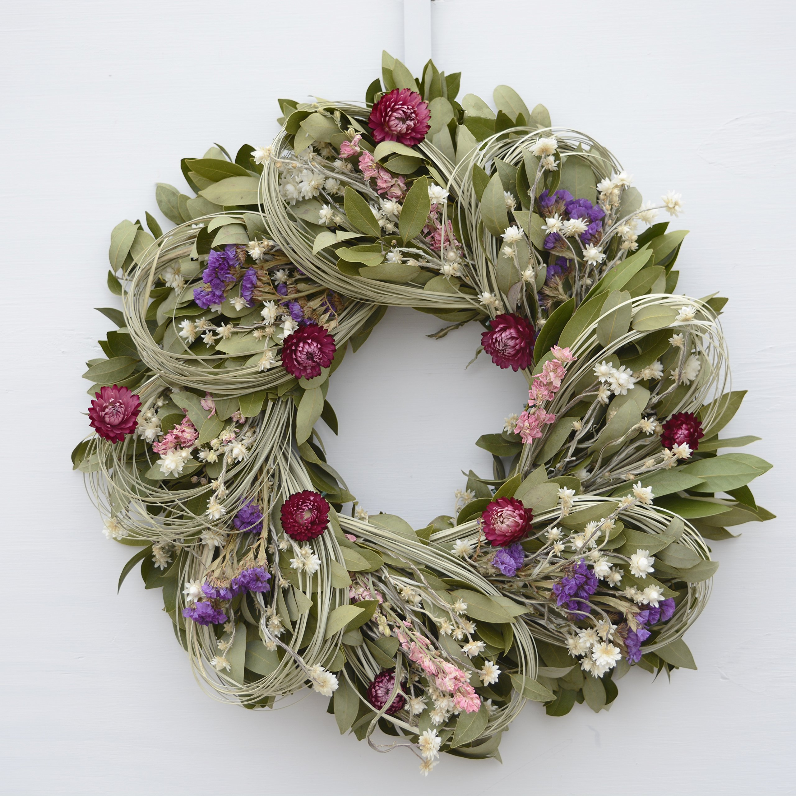 Larkspur And Loops Dried Flower Wreath [Kitchen]