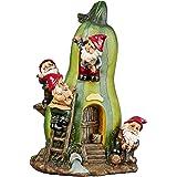 Garden Gnome Statue - Gnome Garden Gourd Homestead Statue - Gnome House - Fairy Garden - Birdhouse