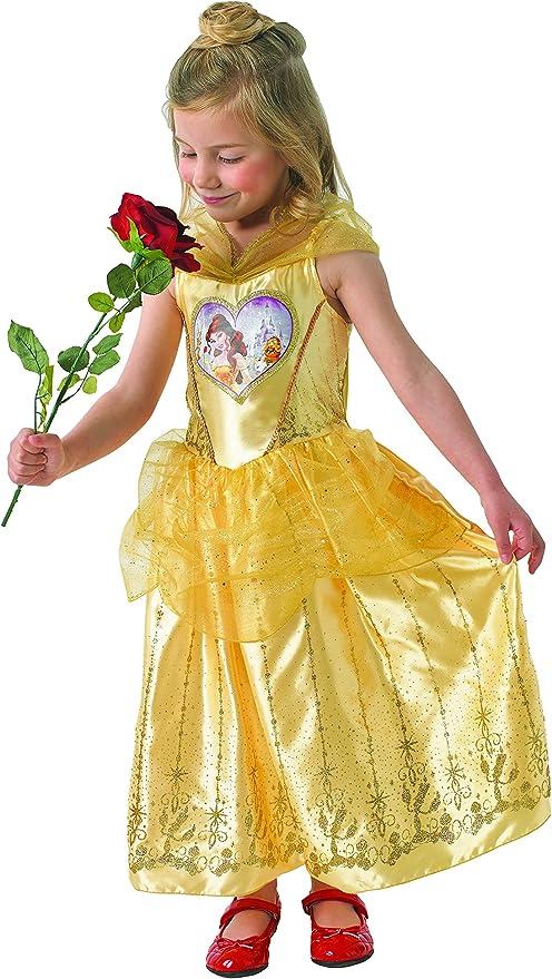 Disfraz de la princesa Bella de Disney para niñas: Amazon.es ...