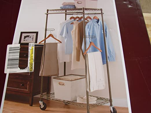 better homes and gardens double hanging garment rack bronze