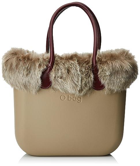 O bag - Evs00_tes66_fas02_ecs04, Bolsos de mano Mujer, Beige (Sabbia), 39x31x14