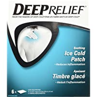 Deep Relief Soothing Cold Neck Shoulder and Back Pain Relief Patch, 6-Count