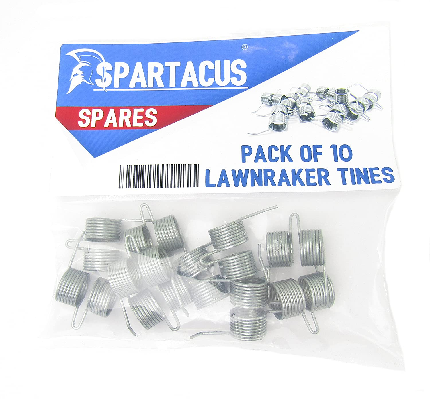 10 x Spartacus Replacement Lawn Raker Scarifier Tines Tynes For Qualcast F016T47920 Lawnraker Scarifier