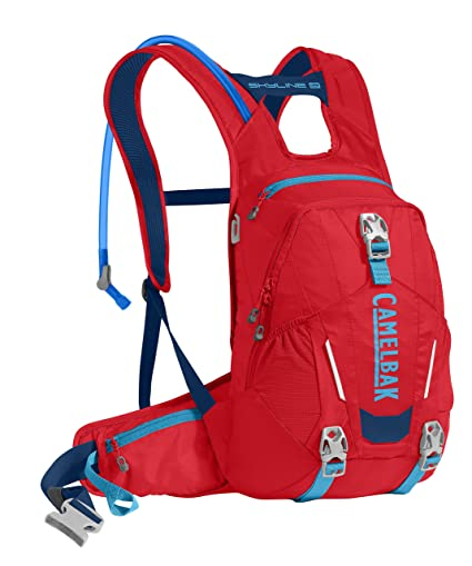 CamelBak Skyline 10 LR – Mochila de hidratación, Hombre, Racing Red/Pitch Blue