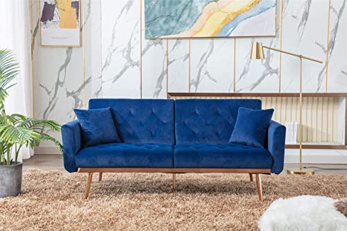 AOBOCO Sectional Sofa Loveseat Couch Velvet Sofa Couche