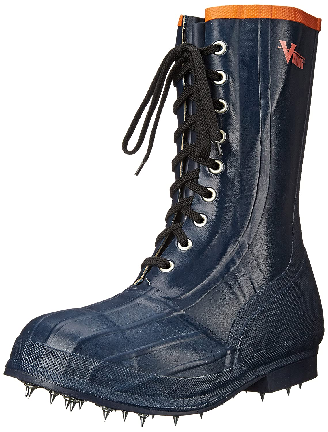Viking Footwear Spiked Forester Caulk Boot B00FG90S4S  ブラック/オレンジ 10 D(M) US