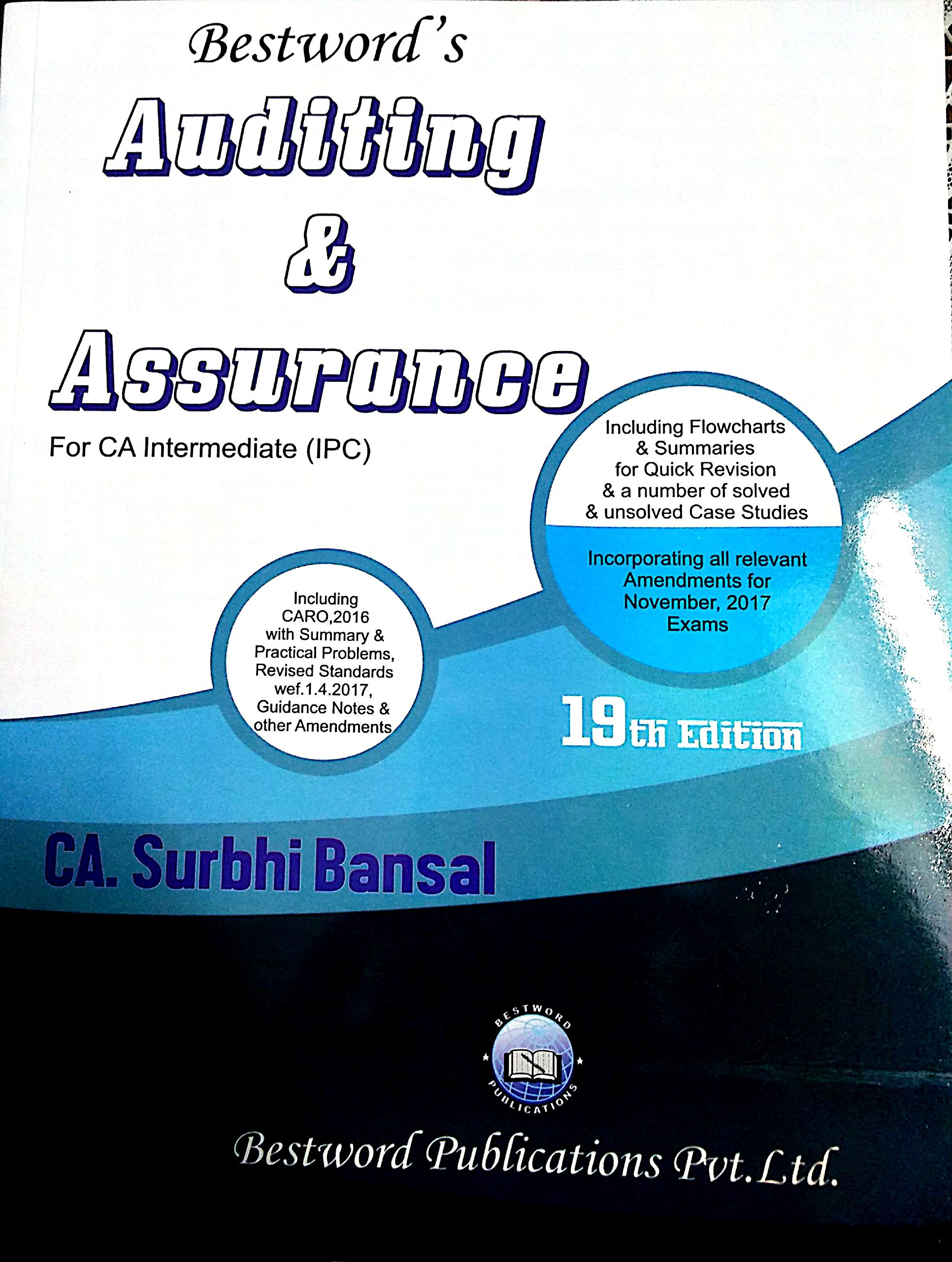 Ca Ipcc Auditing By Surbhi Bansal Wiring Library Bodine Lp600 Emergency Ballast Diagram Buy Assurance For Intermediate Ipc November 2017 Exams Book Online At