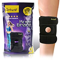 Arthetik Knee Brace, Relieves and Supports Meniscus Tear, Arthritis, PCL, ACL, LCL, MCL, Tendinitis Pain, Running, Sports Play, Open Patella Dual Stabilizers, Neoprene Brace, Small - Medium…