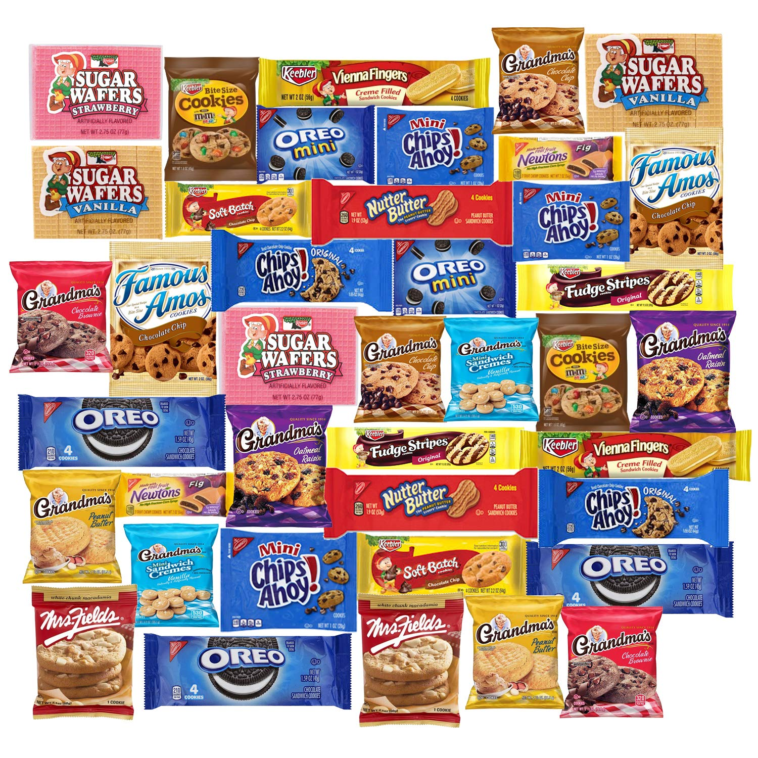 Superb Cookies 40 Packs Variety Pack Individually Wrapped Funny Birthday Cards Online Fluifree Goldxyz