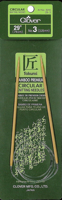 CLOVER 3016//29-08 Takumi Bamboo Circular 29-Inch Knitting Needles Size 8