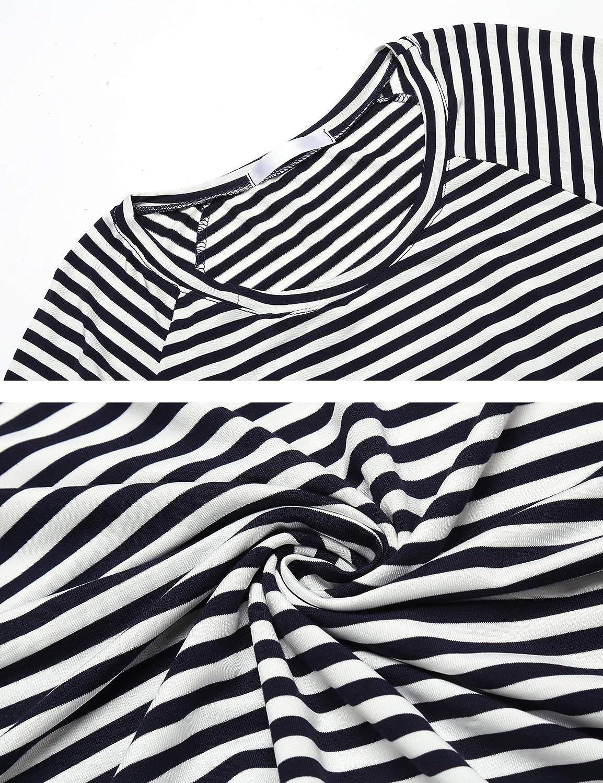 Unibelle Mutterschafts Langarm Gestreifte T-Shirt Umstandsmode Bluse Stillen Baby Tuniken Herbst Umstandshirt Unterhemd Tops Schwangerschaft Basic Stillzeit Bauchfrei Oberteile