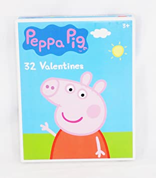 32 peppa pig valentine day sharing cards for kids - Valentine Pig