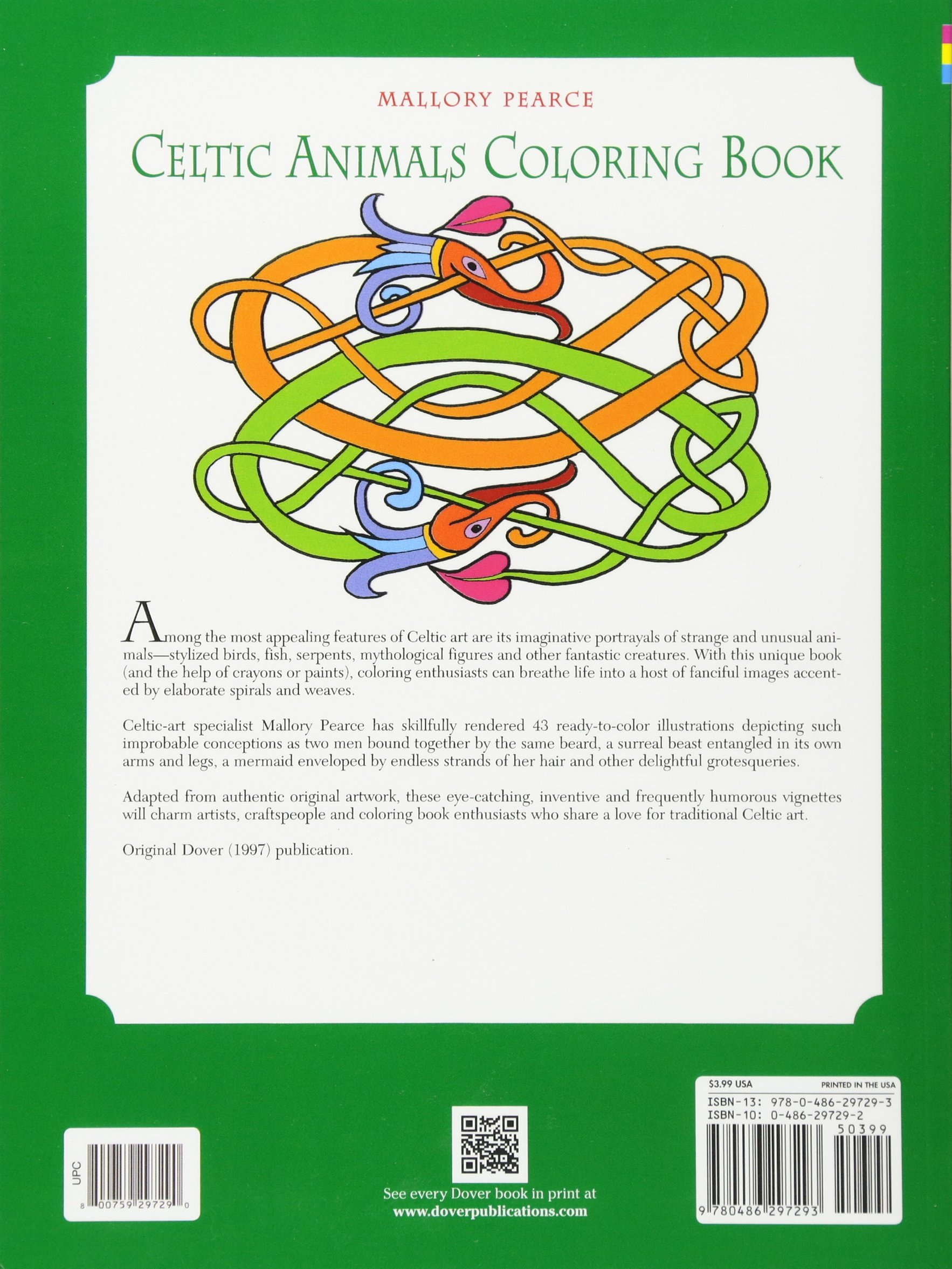 Celtic Animals Coloring Book Mallory Pearce 9780486297293 Books