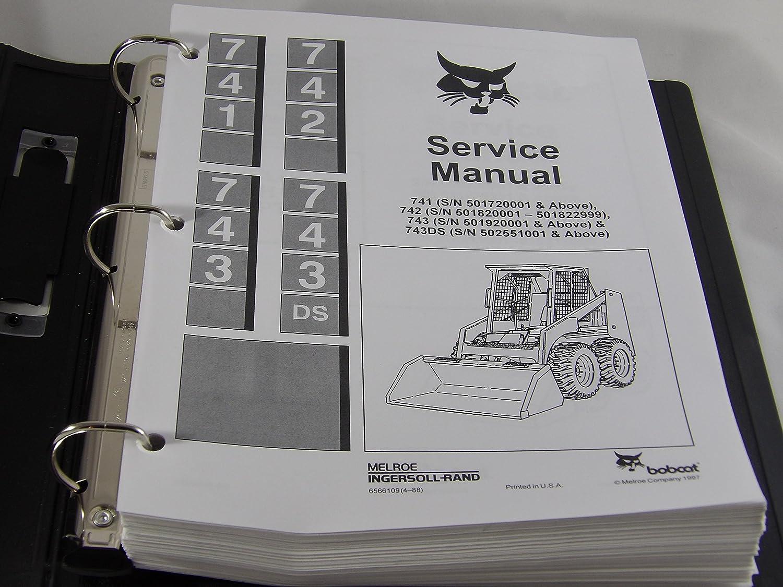 Bobcat 741 742 743 743ds skidsteer loader service repair manual.