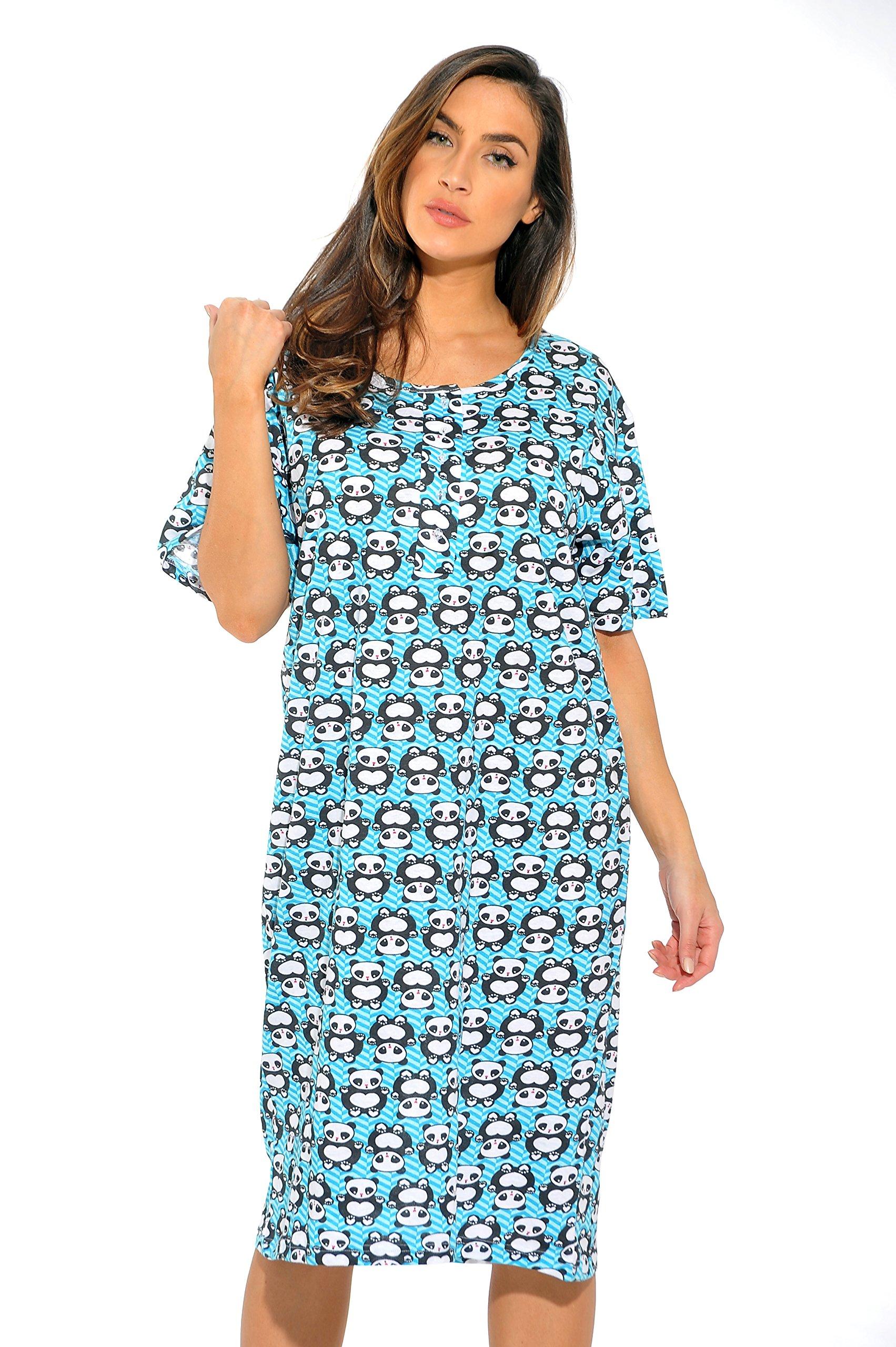 Just Love 4360-P-10067-S Short Sleeve Nightgown/Sleep Dress Women/Sleepwear