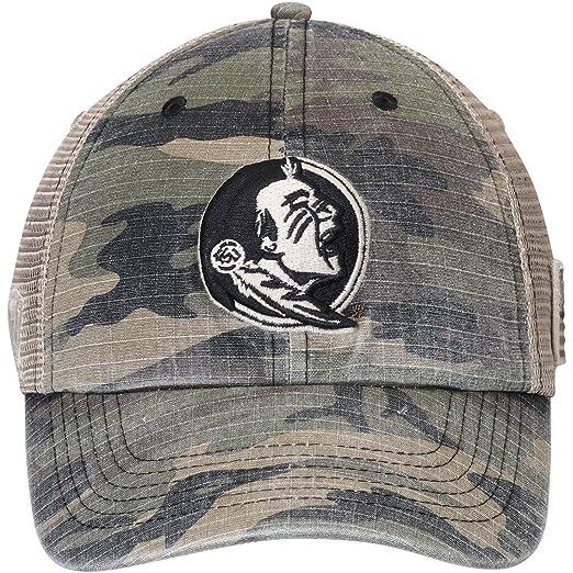 0393b243cc3 Amazon.com   Florida State Seminoles Top of the World Declare Trucker  Adjustable Hat Camo   Sports   Outdoors