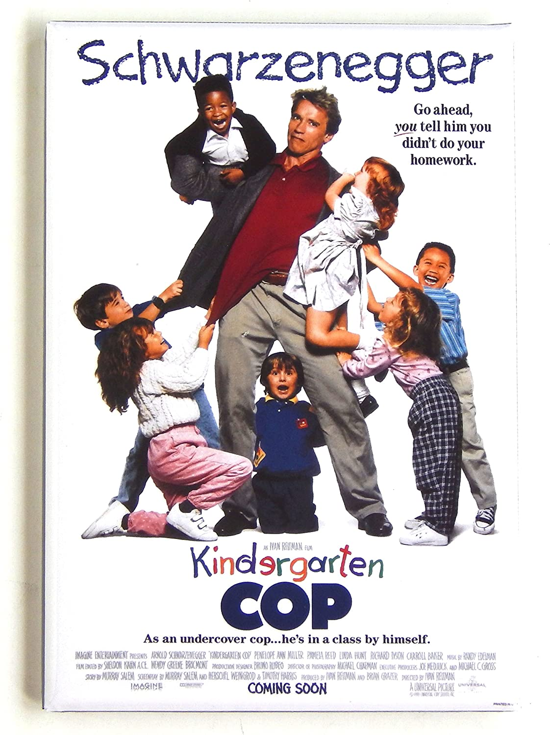 Kindergarten Cop FRIDGE MAGNET movie poster