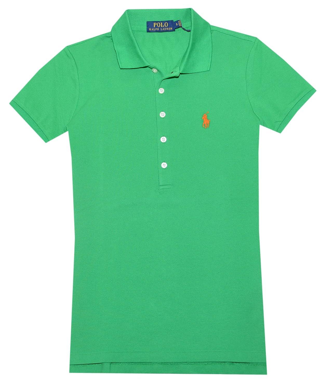 Polo Ralph Lauren Womens Classic Fit Mesh 5 Button Polo Shirt at Amazon Women\u0027s  Clothing store: