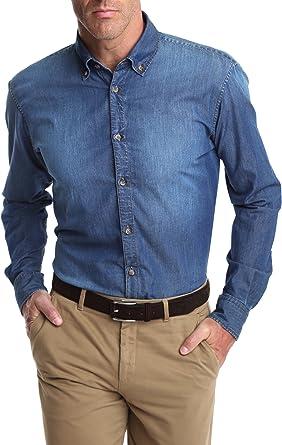 Caramelo, Camisa Vaquera, Hombre · Azul Medio, Talla XXL: Amazon.es: Ropa y accesorios