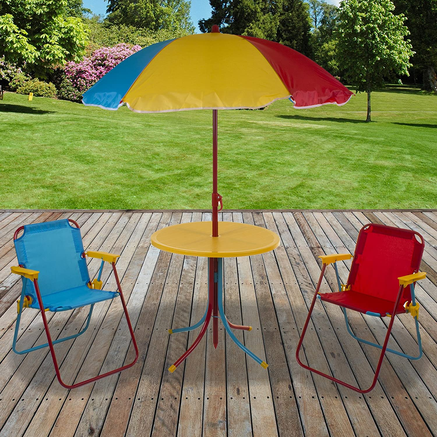 Marko Outdoor Kids Bistro Set Outdoor Garden Furniture Tea Party Multi  Coloured Childrens Play
