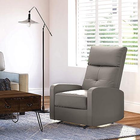 Prime Truly Home Henderson Recliner Light Gray Machost Co Dining Chair Design Ideas Machostcouk