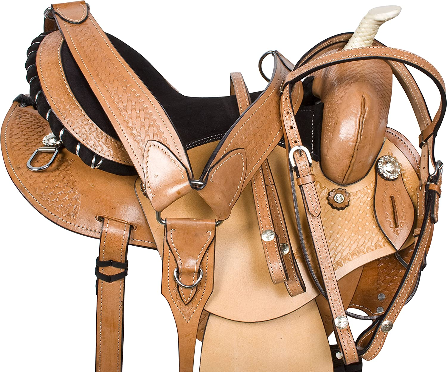 Premium Western Barrel Racing Horse Trail Saddle Tack 14 15 16