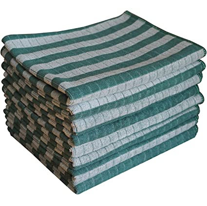 Pack Of 6 Soft And Lint Free Kitchen Towels Highly Absorbent Gryeer Microfibre Tea Towels 45x65cm 2 Grey 2 Blue 2 Green Kitchen Linen Bedding Linens