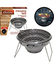 """Tailgater Grill - Portable Camping or Tailgating Grill with 12"""" Non Stick Stainless Grill Surface and Carry Bag"""
