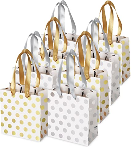 Wholesale Kraft Paper Bags Dots Christmas Birthday Party Favor Treat Gift Bags