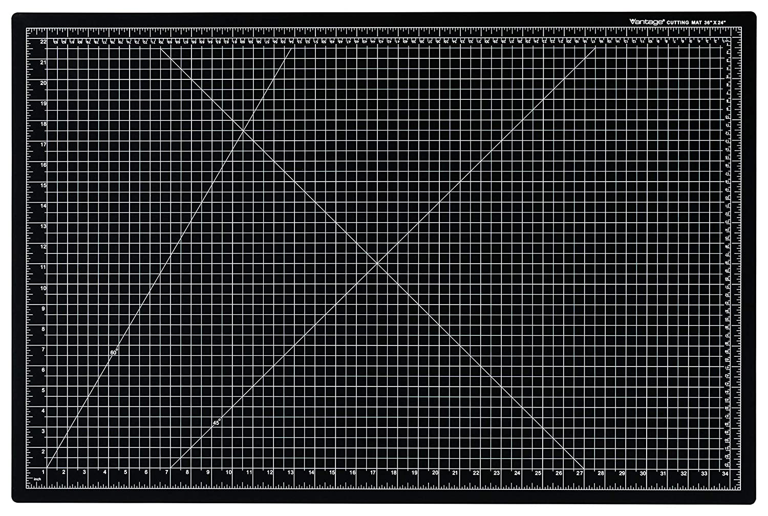 "Dahle Vantage 10673 Self-Healing 5-Layer Cutting Mat Perfect for Crafts and Sewing 24"" x 36"" Black Mat"