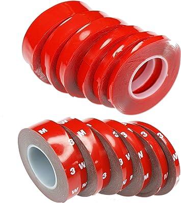 3M Schaum Klebeband doppelseitig schwarz 12mm x 66m 0,8mm dick Tape Schaumstoff