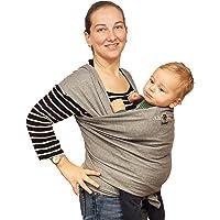 Fascia Porta Bambino Bebè Neonato Marsupio da 0 Mesi a 3 Anni fino a 15 Kg di 2a Generazione Cotone Ecologico Traspirante Elastica Baby Wrap Sling Lunga Nuova Misura