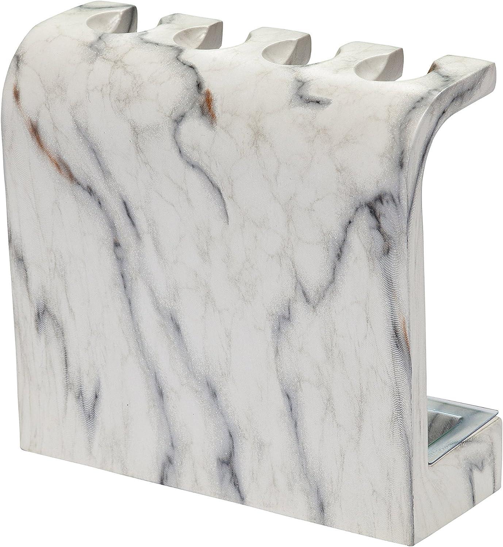 12 mm /Épaisseur SRunDe Support de t/ête de brosse /à dents /électrique autonome /à 5 t/êtes pour salle de bain Respectueux de lenvironnement En acrylique blanc Robuste /Él/égant Diam/ètre du trou 3