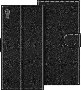 COODIO Funda Sony Xperia XA1 con Tapa, Funda Movil Sony Xperia XA1, Funda Libro Sony Xperia XA1 Carcasa Magnético Funda para Sony Xperia XA1, Negro: Amazon.es: Electrónica