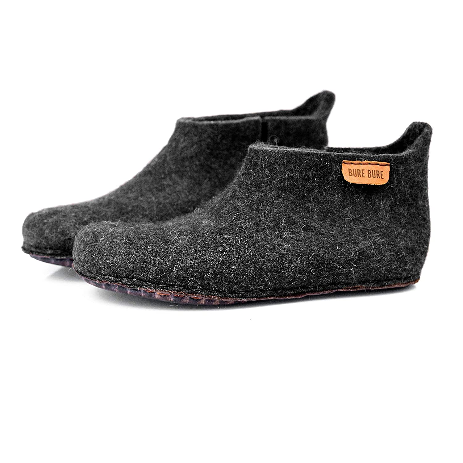 BureBure Classic Felted Wool Ankle Boots Slippers for Women Handmade in Europe