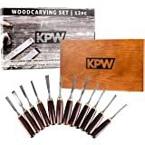 KPW Professional Wood Chisel Set with Wooden Presentation Box, Woodworking & Carving Tools with Chrome Vanadium Steel…