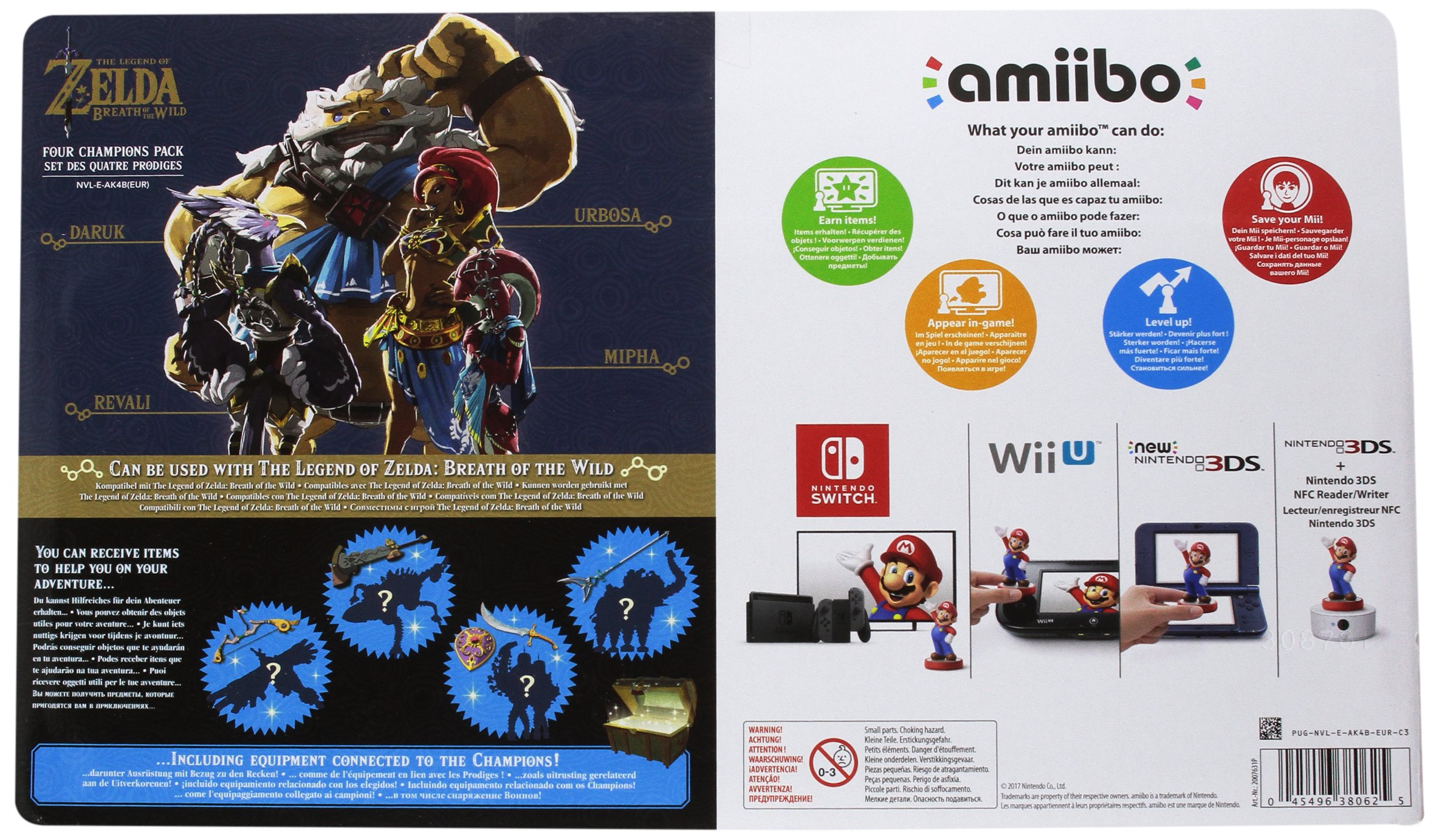 Nintendo Zelda Breath of the Wild - 4 Champions Amiibo Set by Nintendo (Image #2)