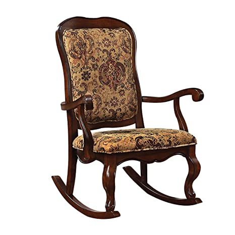 Marvelous Acme Furniture 59390 Sharan Rocking Chair Cherry Gamerscity Chair Design For Home Gamerscityorg