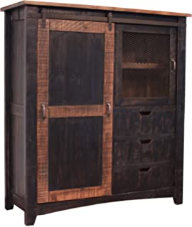 Greenview Rustic White Farmhouse Style Armoire Gentlemans Chest