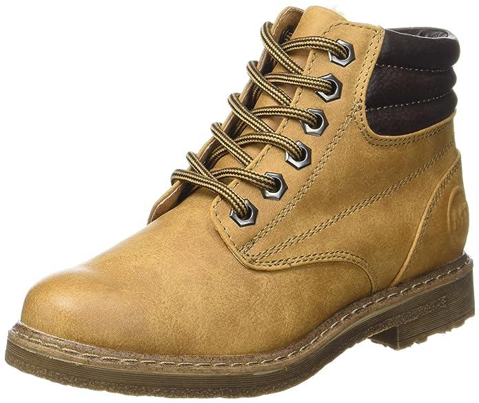 Marco Tozzi Cool Club 46207, Zapatillas Altas para Niñas, Amarillo (Corn/Mocca), 38 EU